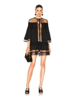 Zuhair Murad Georgette and Lace Dress
