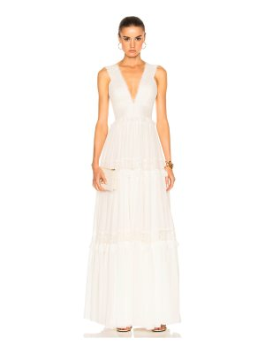 Zuhair Murad Georgette & Lace Gown